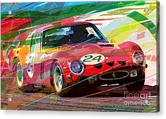Ferrari 250 Gto Vintage Racing Acrylic Print by David Lloyd Glover