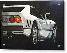Acrylic Print featuring the painting Ferrari 288 Gto by Richard Le Page