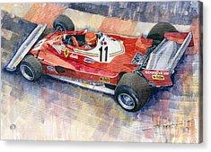 Ferrari 312 T2 Niki Lauda 1977 Monaco Gp Acrylic Print