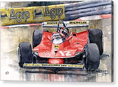 Ferrari  312t4 Gilles Villeneuve Monaco Gp 1979 Acrylic Print