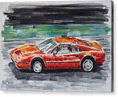 Ferrari 328 Acrylic Print by Ildus Galimzyanov