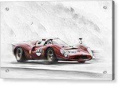 Ferrari 330 P Series Acrylic Print by Peter Chilelli