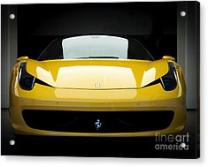 Acrylic Print featuring the photograph Ferrari 458 by Matt Malloy