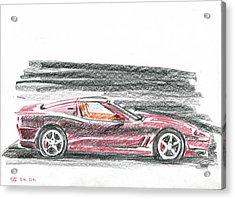 Ferrari 550 Acrylic Print by Ildus Galimzyanov