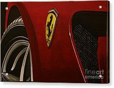 Ferrari 599 Gtb Fiorano Acrylic Print by Richard John Holden RA