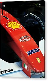 Ferrari  Acrylic Print by Andres LaBrada