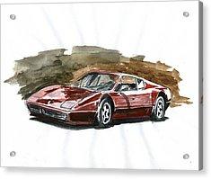 Ferrari Bb 512 Acrylic Print by Ildus Galimzyanov