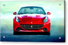 Ferrari California Acrylic Print by Brian Reaves