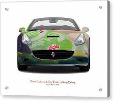 Ferrari California Carlsberg Esbjerg Acrylic Print by Jan W Faul