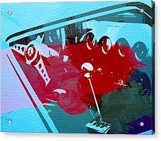 Ferrari Cockpit Acrylic Print by Naxart Studio