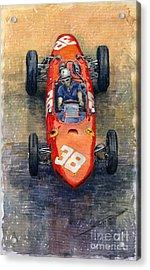 Ferrari Dino 156 1962 Monaco Gp Acrylic Print by Yuriy Shevchuk
