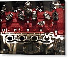 Ferrari Engine Acrylic Print by Radoslav Nedelchev