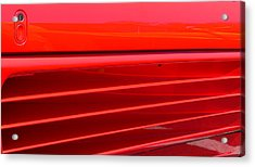 Acrylic Print featuring the photograph Ferrari Exotic Sports Car Side by Jeff Lowe