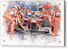 2012 Ferrari F 2012 Fernando Alonso Pit Stop Acrylic Print