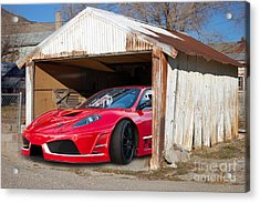 Acrylic Print featuring the photograph Ferrari by Gunter Nezhoda