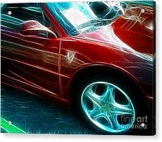Ferrari In Red Acrylic Print by Paul Ward