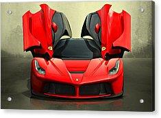 Ferrari Laferrari F 150 Supercar Acrylic Print by Movie Poster Prints