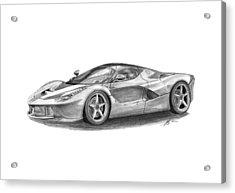 Ferrari Laferrari Acrylic Print by Gabor Vida