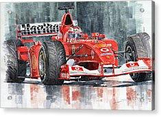 2002 Ferrari Marlboro F 2002 Ferrari 051 Rubens Borrichello Acrylic Print