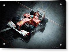 Ferrari Rain Dance Acrylic Print