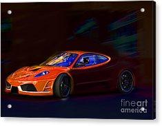 Acrylic Print featuring the photograph Ferrari Shadow by Gunter Nezhoda