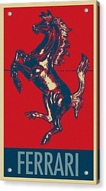 Ferrari Stallion In Hope Acrylic Print