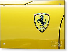 Ferrari Yellow Acrylic Print
