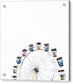 Ferris Wheel Against Clear Sky Acrylic Print by Avneet Kaur / Eyeem