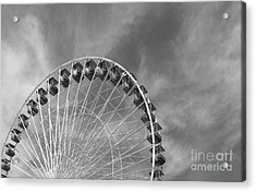 Ferris Wheel Black And White Acrylic Print