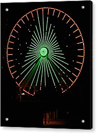 Ferris Wheel Christmas Tree Acrylic Print