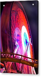 Acrylic Print featuring the digital art Ferris Wheel by Gandz Photography
