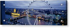 Ferris Wheel In A City, Millennium Acrylic Print by Panoramic Images
