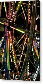 Acrylic Print featuring the photograph Lit Ferris Wheel  by Lilliana Mendez