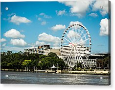 Ferris Wheel On The Brisbane River Acrylic Print