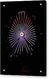 Ferris Wheel Santa Acrylic Print