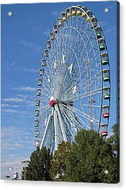 Ferris Wheel State Fair Of Texas Acrylic Print by Shawn Hughes