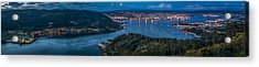 Acrylic Print featuring the photograph Ferrol's Estuary Panorama From La Bailadora Galicia Spain by Pablo Avanzini