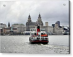 Ferry Across The Mersey Acrylic Print by Anthony Beyga