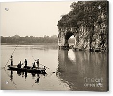 Acrylic Print featuring the photograph Ferry At Elephant's Trunk Hill by Nigel Fletcher-Jones