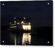 Ferry At Night Acrylic Print