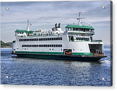 Ferry Boat Chetzemoka  Acrylic Print by Bob Noble Photography