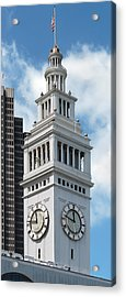 Ferry Building Clock Tower Acrylic Print by Jo Ann Snover