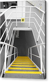 Acrylic Print featuring the photograph Ferry Stairwell by Marilyn Wilson