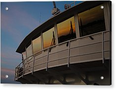 Ferry Sunset Acrylic Print