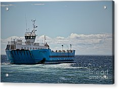 Ferryboat In Chilean Waters Acrylic Print
