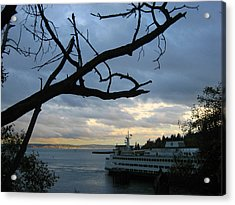 Ferryboat To Seattle  Acrylic Print