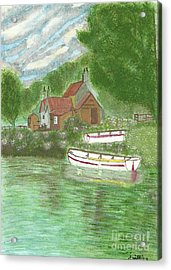 Ferryman's Cottage Acrylic Print by Tracey Williams
