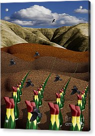 Fertile Ground Acrylic Print by Keith Dillon