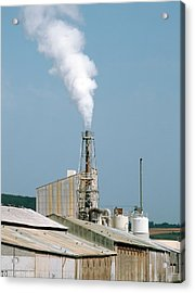 Fertiliser Factory Smokestack Acrylic Print by Alex Bartel
