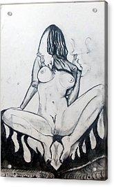 Acrylic Print featuring the drawing Fertility Fertilidad by Lazaro Hurtado